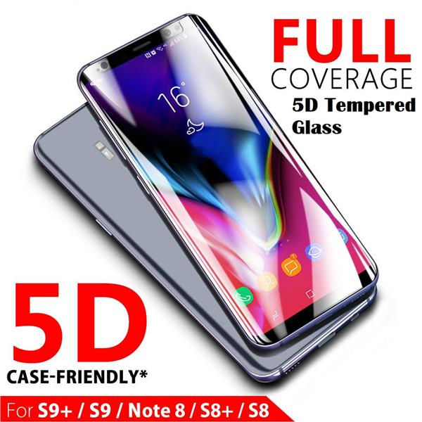 online store c36b9 a381c Samsung Galaxy Note 9 5D Full Coverage Case Friendly Tempered Glass