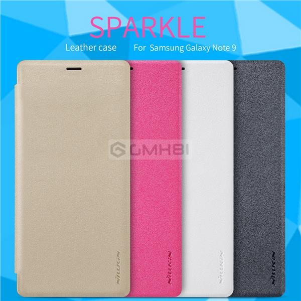 sale retailer 21796 7c8e9 Samsung Galaxy Note 9 Nillkin SPARKLE Leather Slim Flip Cover Case