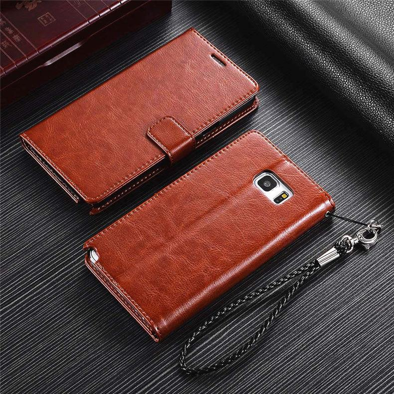 online retailer 4d532 0e30b Samsung Galaxy Note4 Note 4 Card Slot Leather Flip Case Cover Casing
