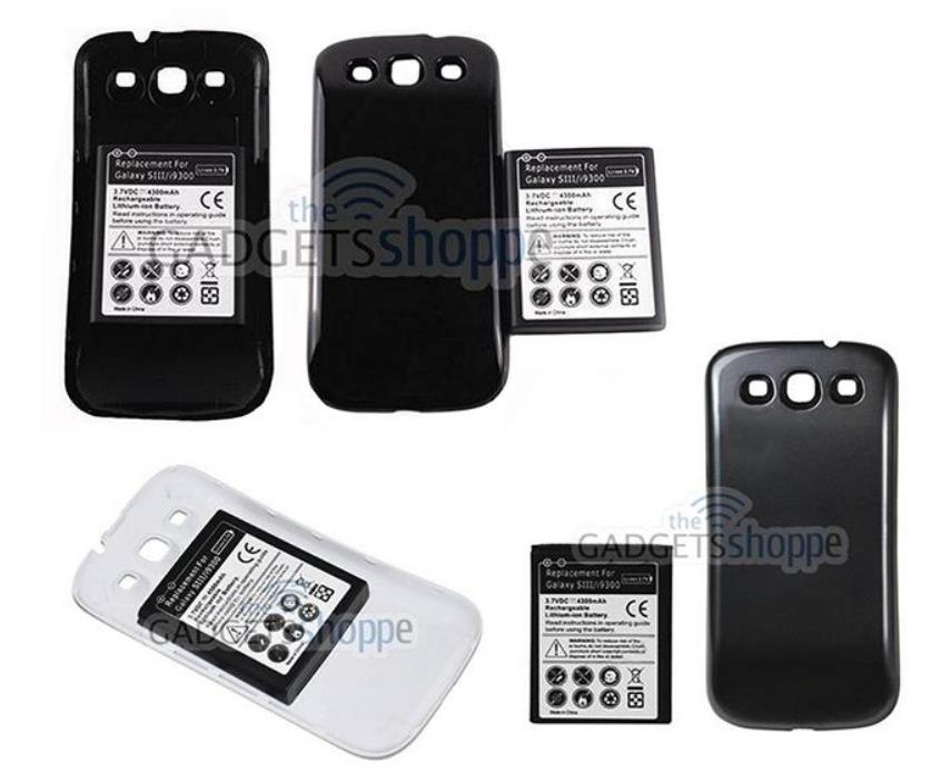 size 40 18179 851c3 SAMSUNG GALAXY S3 I9300 4300MAH EXTENDED BATTERY WITH BACK COVER