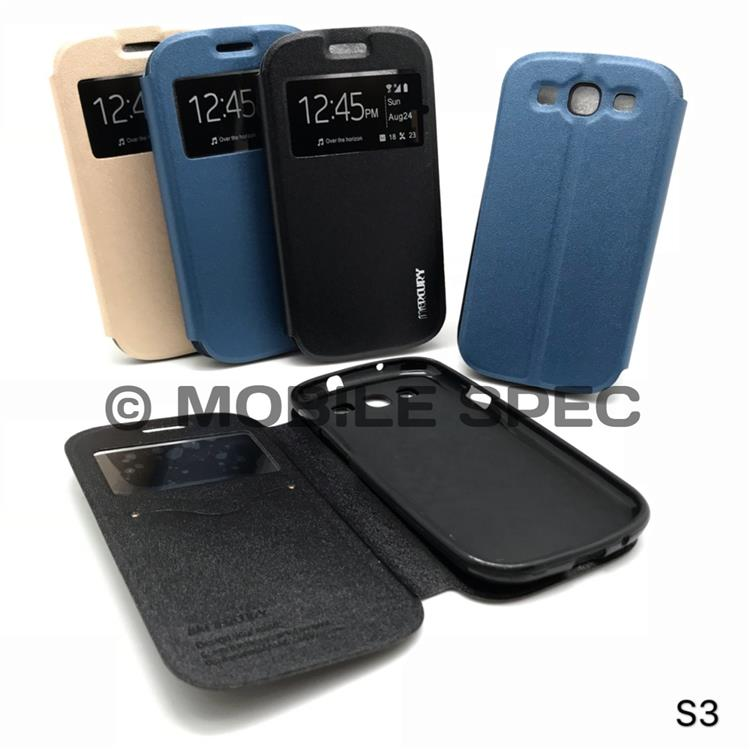 SAMSUNG GALAXY S3 i9300 FLIP POUCH BAG S VIEW MERCURY