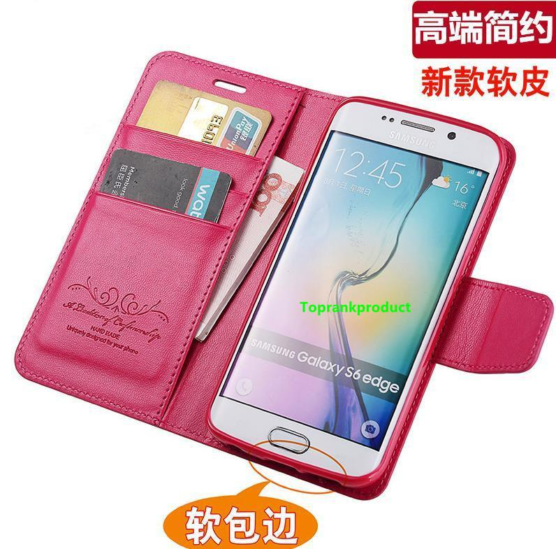 Samsung Galaxy S3 S4 S5 S6 Edge Flip Card Slot Case Cover Casing +Gift