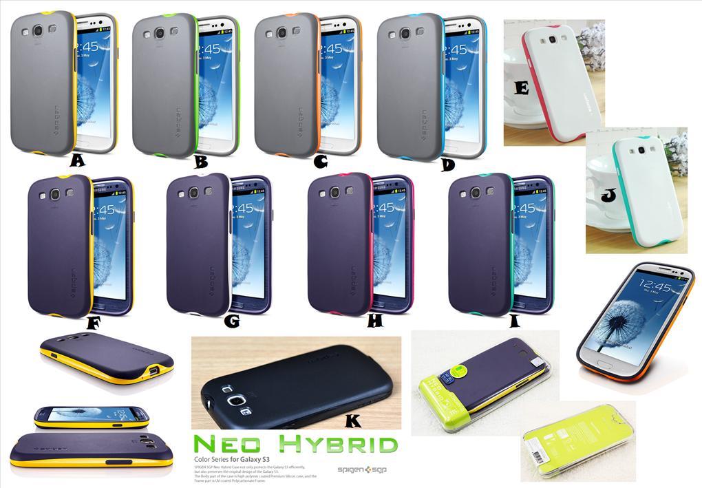 timeless design 956ea dc355 Samsung Galaxy S3 SPIGEN SGP NEO HYBRID Case Cover *FREE SP*