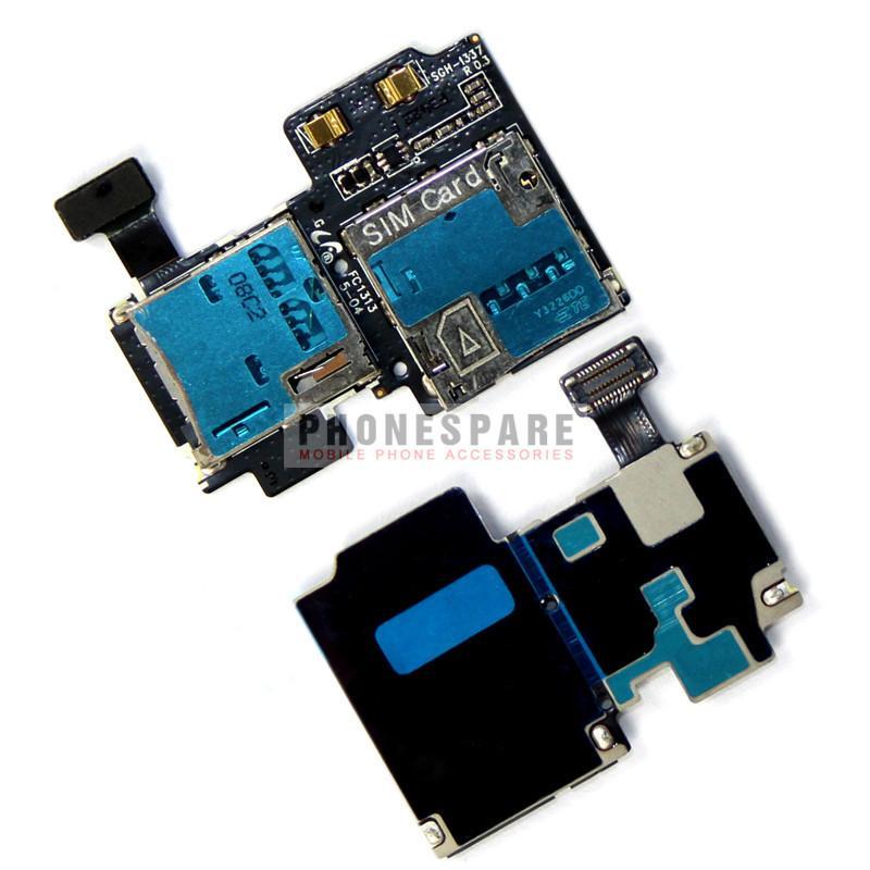 Samsung Galaxy S4 i9500 Sim Card Memory Card Ribbon Sparepart 100% Tes