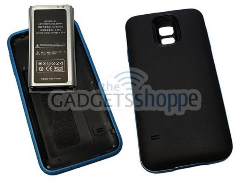 SAMSUNG GALAXY S5 I9600 2800MAH EXTENDED BATTERY POWER CASE
