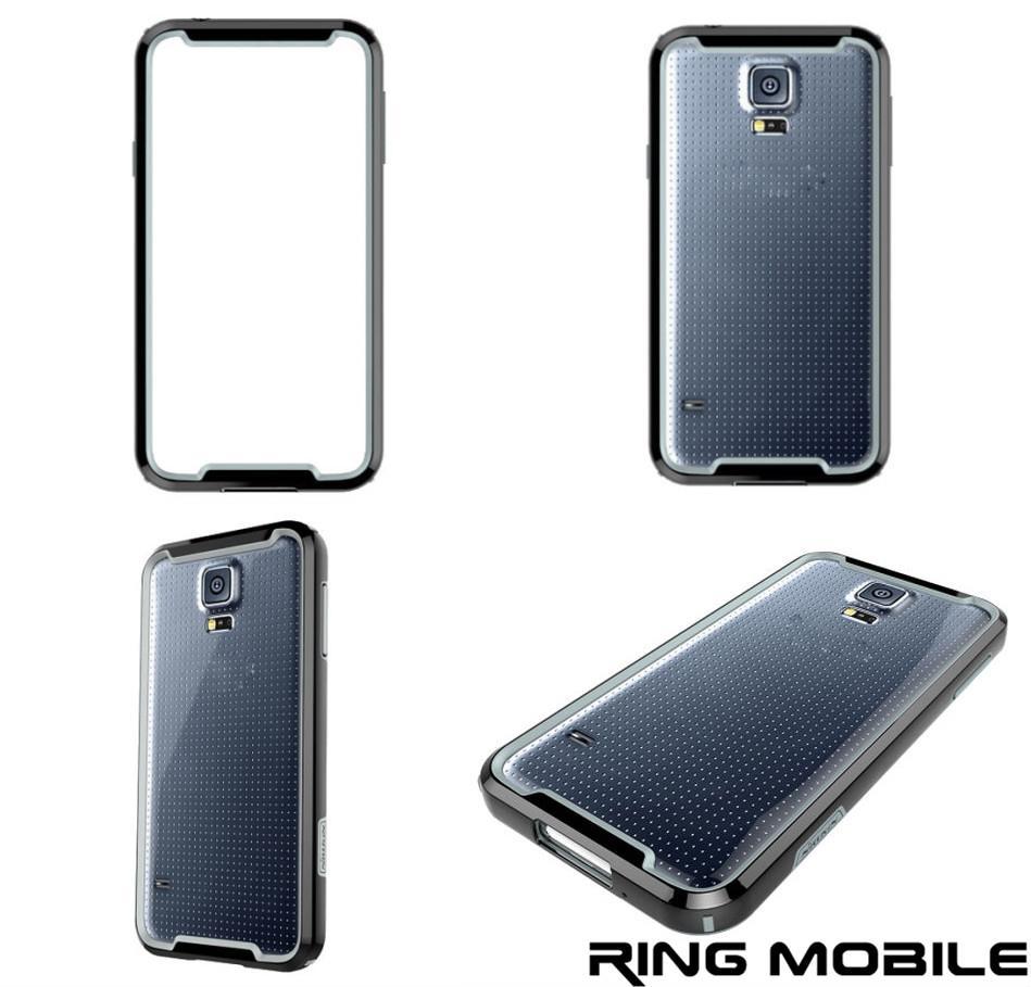 finest selection 4cab9 68347 Samsung Galaxy S5 Nillkin Armor - Border Series Bumper Case - Black