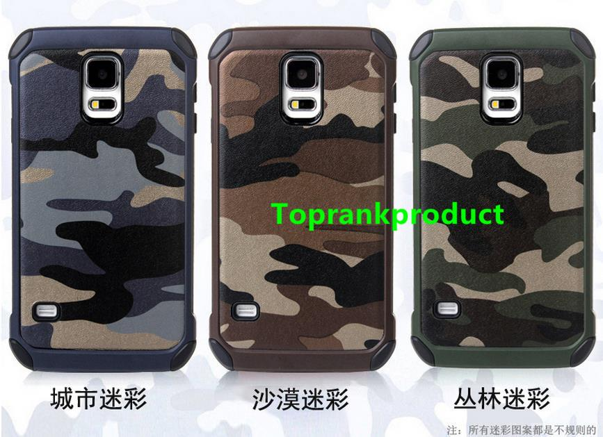 Samsung Galaxy S5 S6 / Edge / Plus Camouflage Armor Case Cover Casing