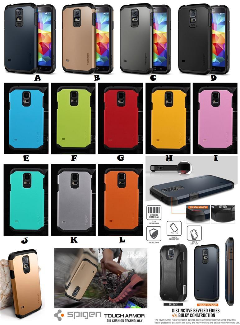 new style 4dc2f f902c Samsung Galaxy S5 SPIGEN SGP TOUGH ARMOR Case Cover *FREE SP*