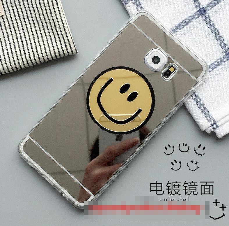 buy popular 3c485 1ce83 Samsung Galaxy S6 / Edge / Plus Soft Mirror Silicone Case Cover Casing