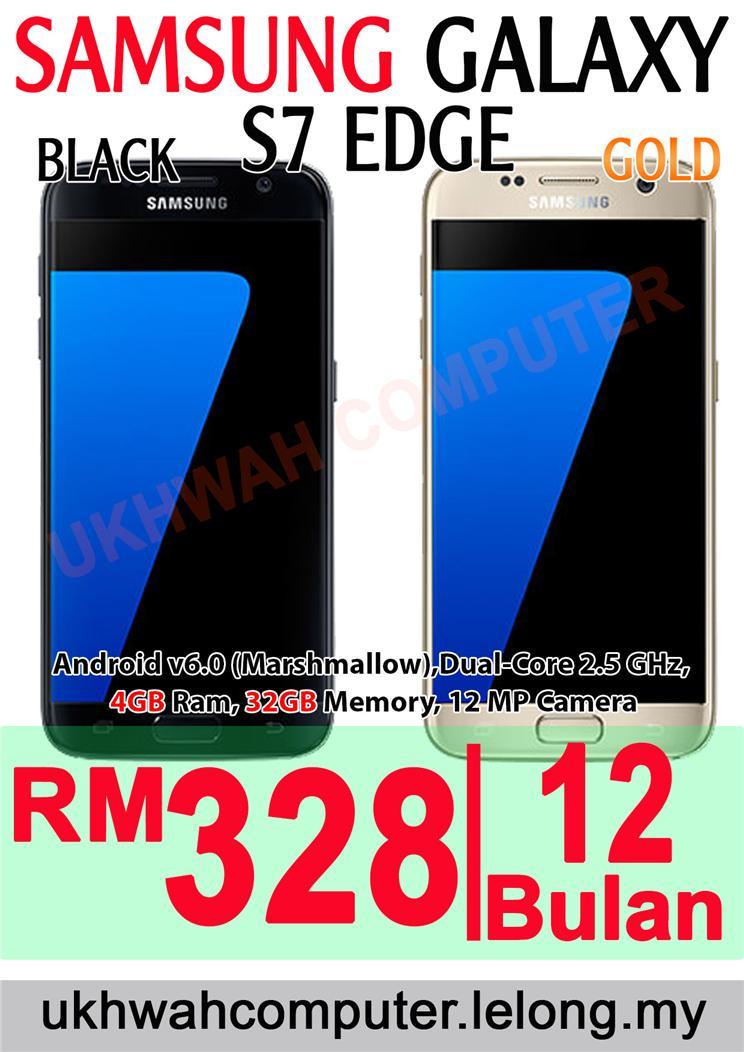 Samsung Galaxy S7 Edge Harga Ansuran Instalment AEON 12 Bulan