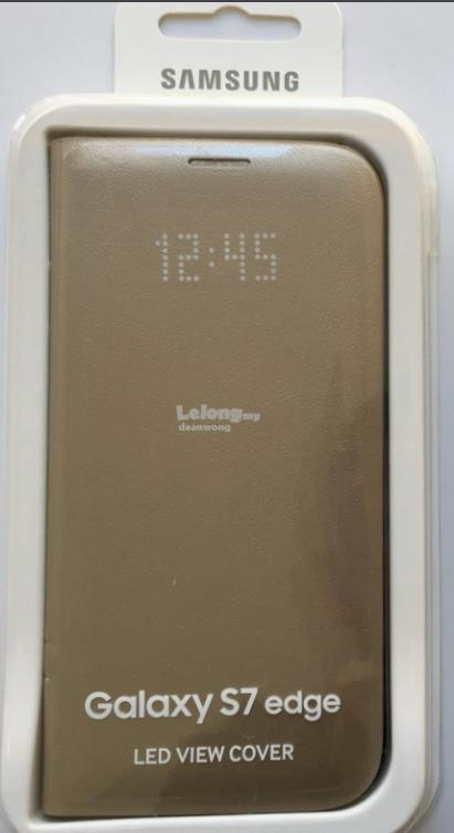 new arrival 3dda4 0422d Samsung Galaxy S7 Edge LED View Cover Gold