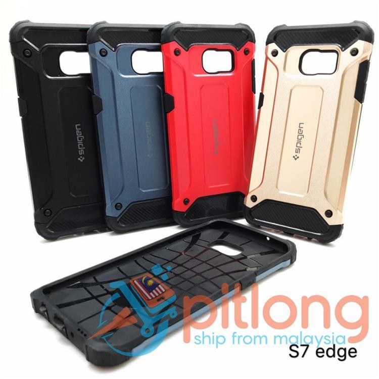 online retailer 85f3a 2e577 SAMSUNG GALAXY S7 EDGE S9 S10 PLUS SPIGEN TOUGH ARMOR BACK CASE