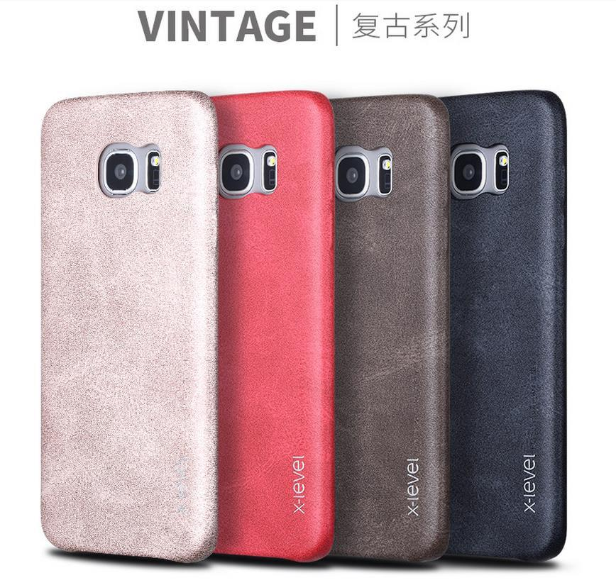 Samsung Galaxy S7 / Edge Vintage Leather Back Case Cover Casing + Gift