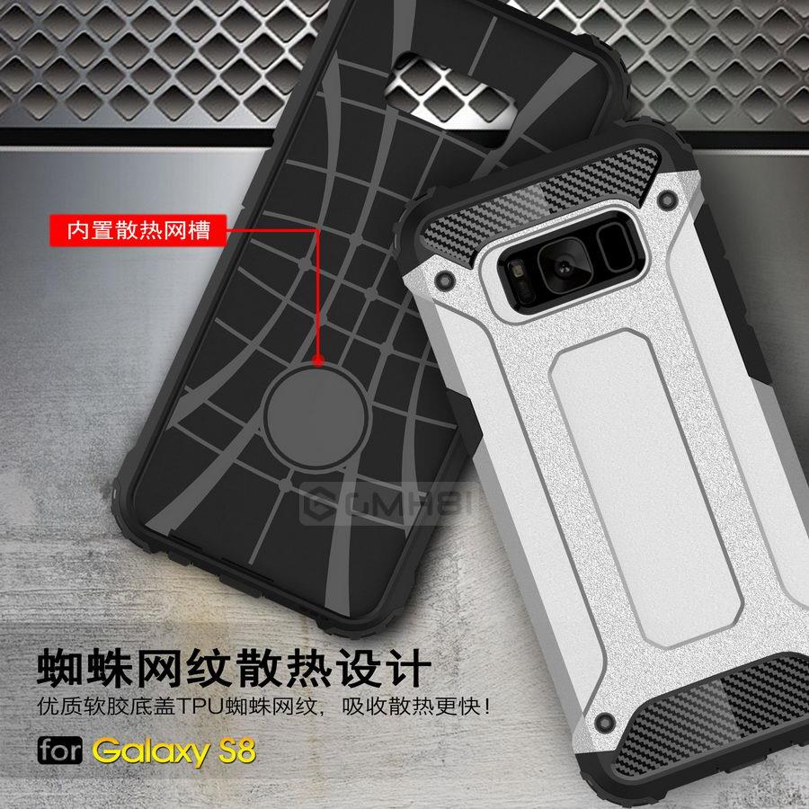 separation shoes dcbf9 3ca70 Samsung Galaxy S8 Plus S7 Note 5 Rugged Armor Bumper Cover Case