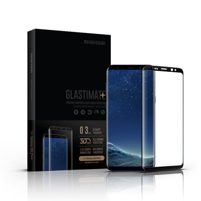 Samsung Galaxy S8 Plus SIEGE Glastimate 3D Curved Tempered Glass