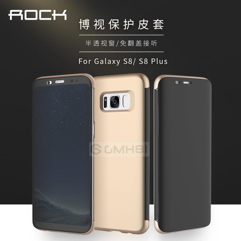 online retailer ee640 90cf6 Samsung Galaxy S8 ROCK Dr.V Invisible 360 Slim Full Cover Flip Case
