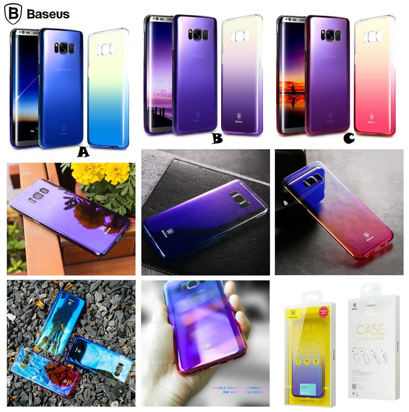 los angeles 37ab9 137a8 Samsung Galaxy S8 S8 Plus BASEUS Glaze Color Transparent Case Cover