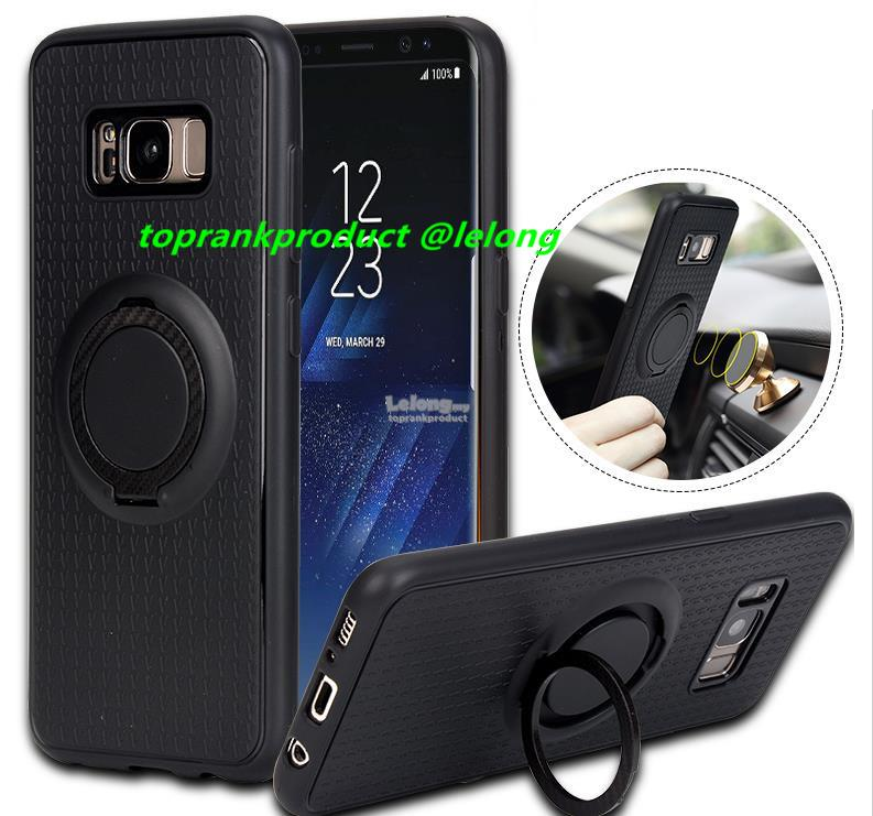 low priced d6aaf f1c5c Samsung Galaxy S8 S8+ Plus Magnet TPU Ring Stand Case Cover Casing