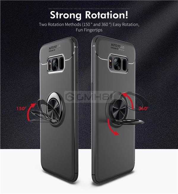 Samsung Galaxy S8 S8+ Plus Ring Buckle TPU Bumper Soft Back Cover Case