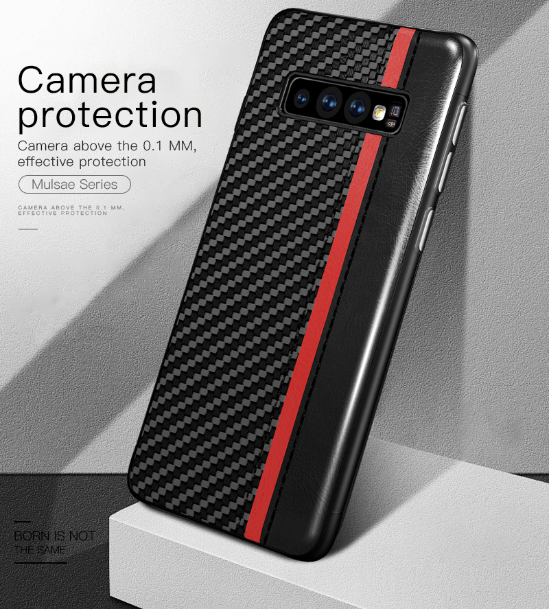 Samsung Galaxy S8 S9 S8 S9 Plus Note 8 Carbon Fiber Back Cover Mulsae