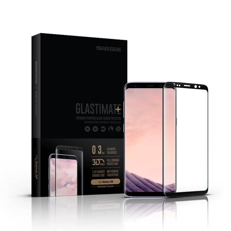 Samsung Galaxy S8 SIEGE Glastimate 3D Curved Tempered Glass
