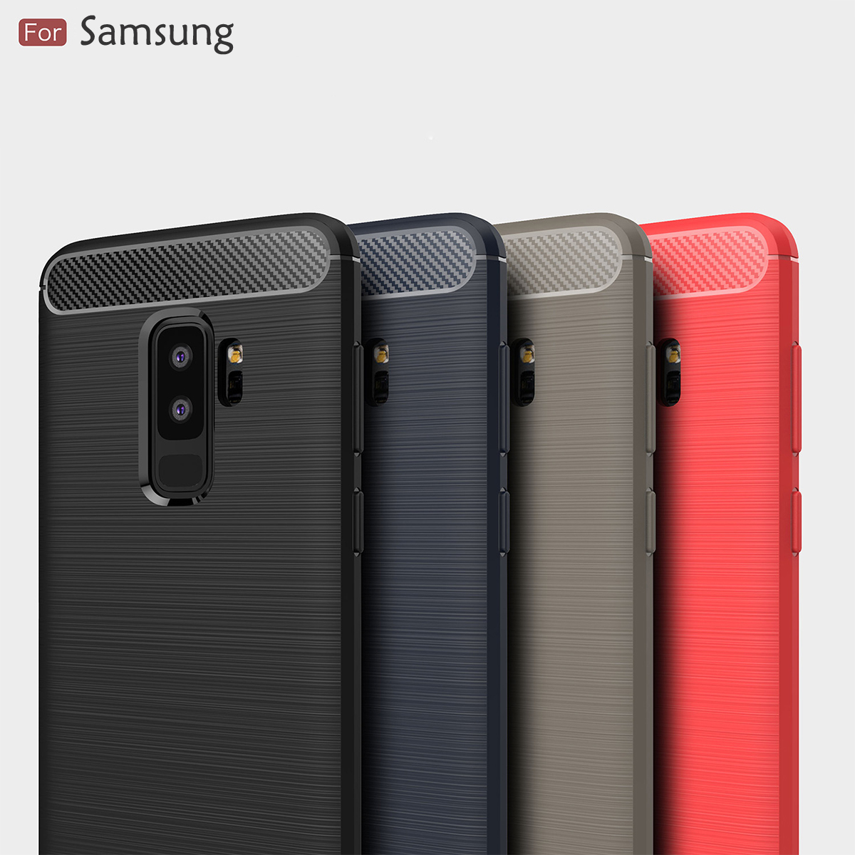 outlet store e4ef1 1a088 Samsung Galaxy S9 Plus J1 Ace J2 Pro 2018 Brushed TPU Soft Case Cover