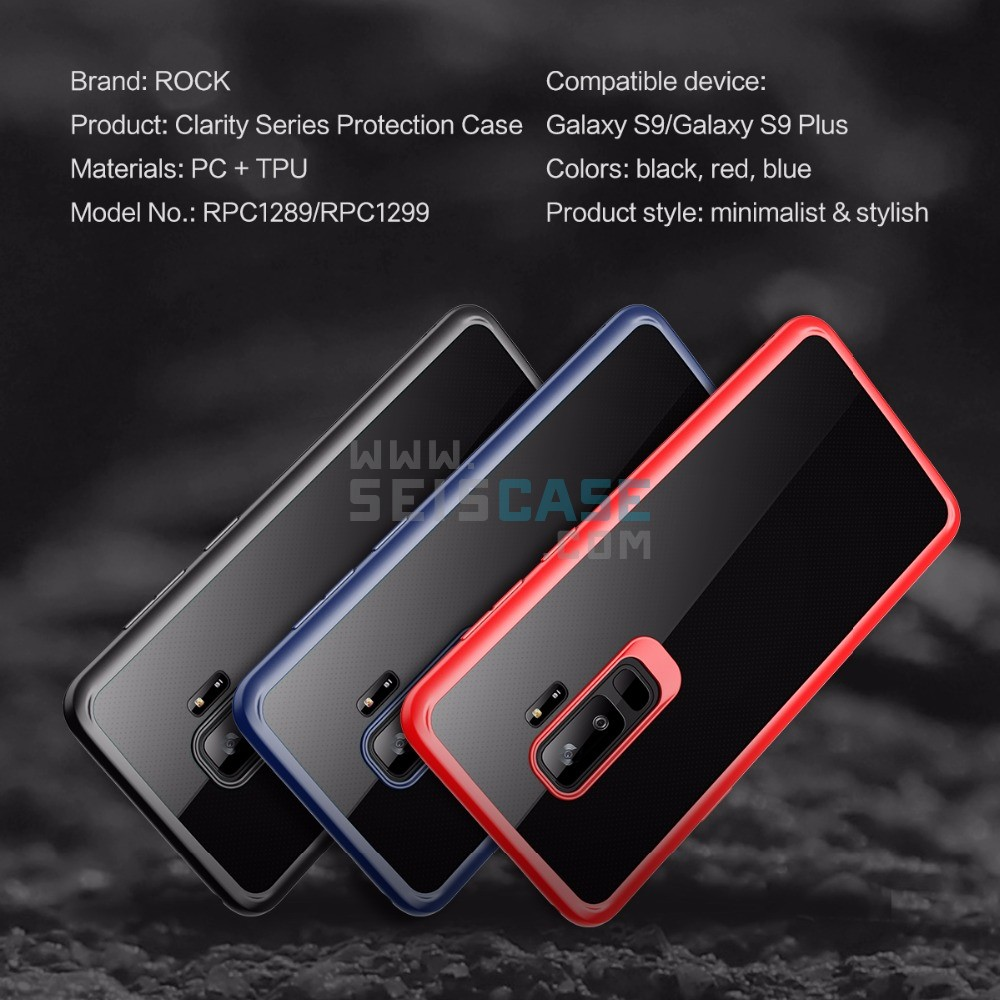 online store bd121 a56e9 Samsung Galaxy S9 Plus Rock Clarity Case Clear Back Shockproof Hybrid