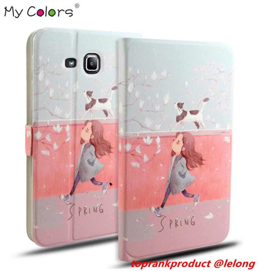 new styles c27ad 54fa3 Samsung Galaxy Tab A6 7.0 T280 T285 Flip Cartoon Case Cover Casing