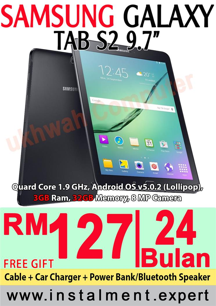 Samsung Galaxy Tab S2 97 Harga Ansuran Installment AEON 24 Bulan