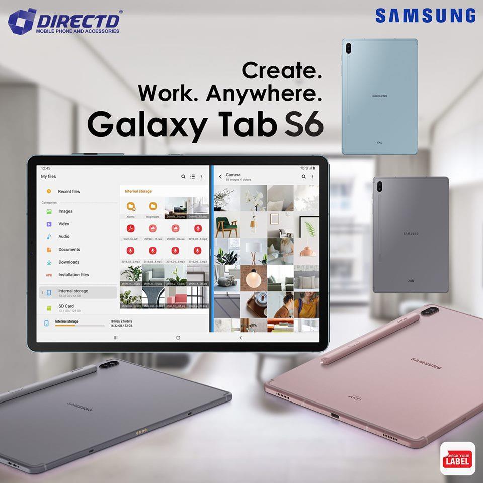 SAMSUNG GALAXY TAB S6 (6GB RAM | 128GB ROM | 10.5 Super AMOLED)MYset