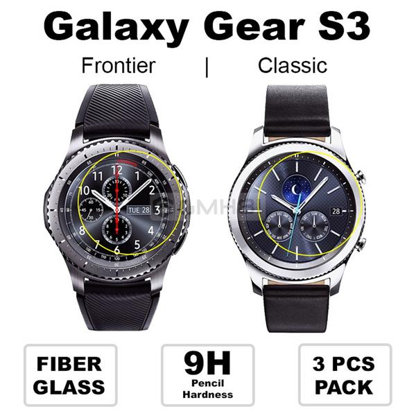 Samsung Gear S2 S3 Classic Frontier FiberGlass Screen Protector Guard. ‹ ›