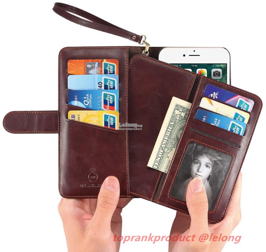 Samsung iPhone 6 6S 7 Galaxy S8 S8+ Plus Flip Wallet Case Cover Casing