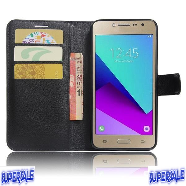 Samsung J2 Prime Protective Leather Flip Casing Case Cover