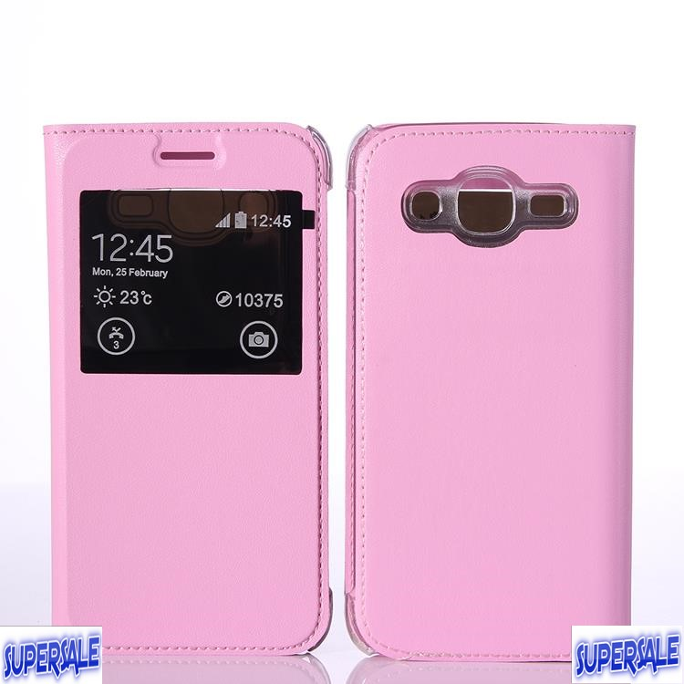 Samsung J2 Prime Protective Leather Flip Window Casing Case Cover