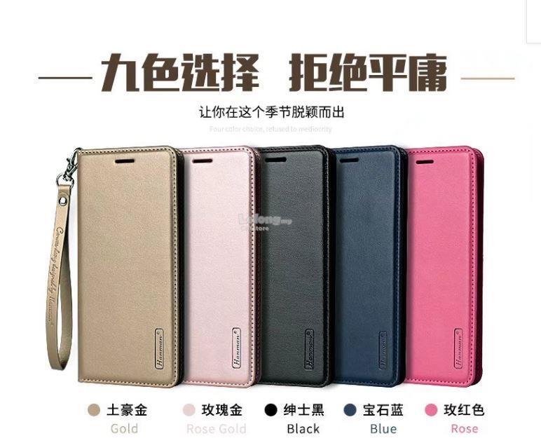 Samsung J2 Pro J4 J6 A7 2018 HANMAN Wallet Standable Flip Case STRAP