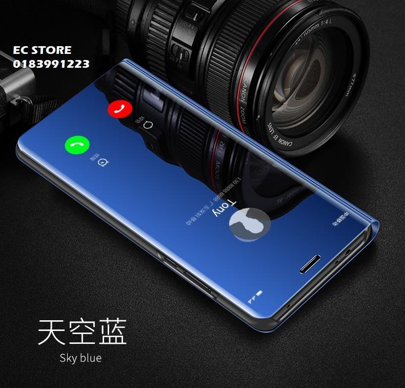 huge discount 8ca1d 59fbb Samsung J6 A6 Plus A7 A9 2018 Mirror Clear View Flip Case Cover
