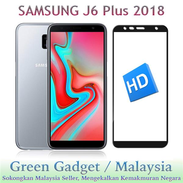 SAMSUNG J6 Plus 2018 Full Glue Screen Protector Tempered Glass