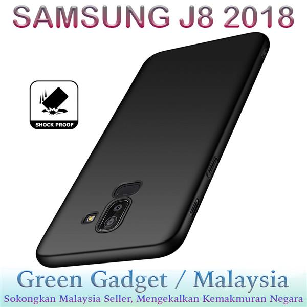SAMSUNG J8 2018 Case Cover Thin Fit Hard (Black)