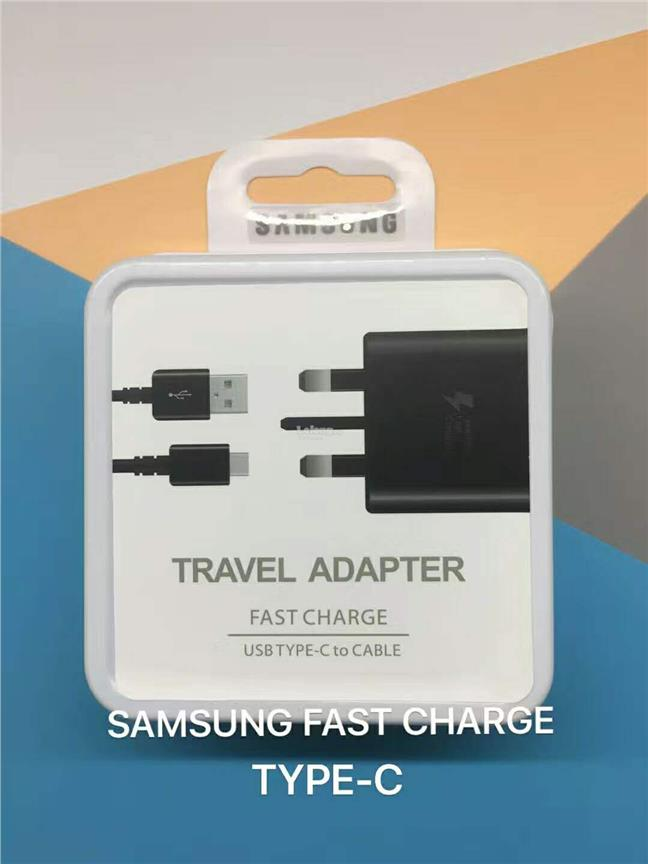 SAMSUNG Microusb / Type C Fast Charger Travel Wall Adapter and Cable
