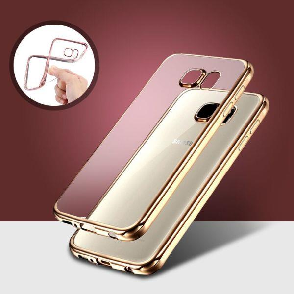 Samsung note 5 4 3 J5 J7 Chrome Plated Frame Tpu Case Cover Bag