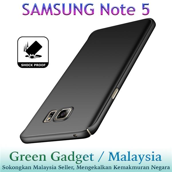 SAMSUNG Note 5 Case Cover Thin Fit Hard (Black)