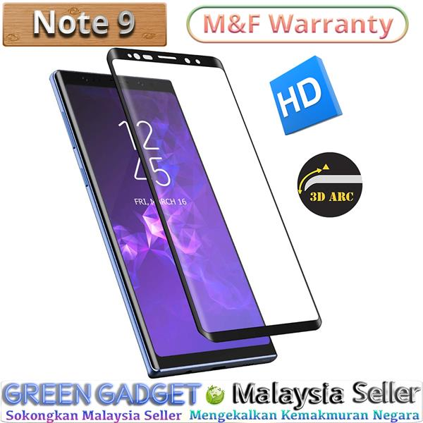 SAMSUNG Note 9 Full Glue Screen Protector 3D Tempered Glass