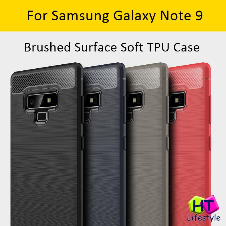 Samsung Note 9 Shockproof Brushed Surface Soft TPU Case