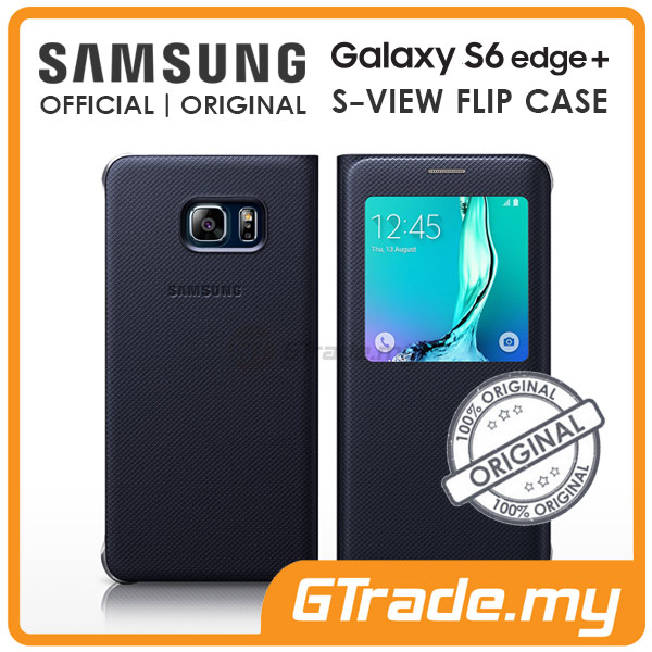 Samsung Original S-View Flip Cover Case | Galaxy S6 Edge Plus Black