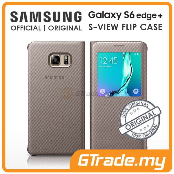 timeless design cde27 dc001 Samsung Original S-View Flip Cover Case | Galaxy S6 Edge Plus Gold