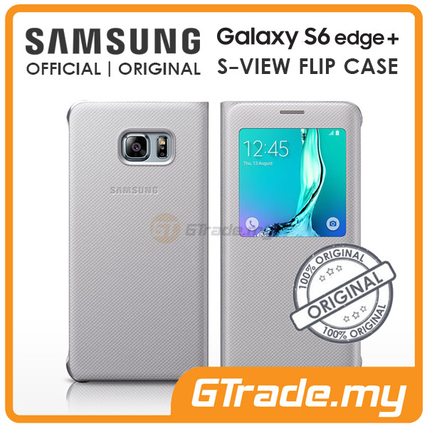 Samsung Original S-View Flip Cover Case | Galaxy S6 Edge Plus Silver