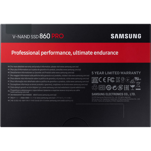 "SAMSUNG PRO 860 256GB 2.5"" INTERNAL SOLID STATE DRIVE - MZ76P256BW"