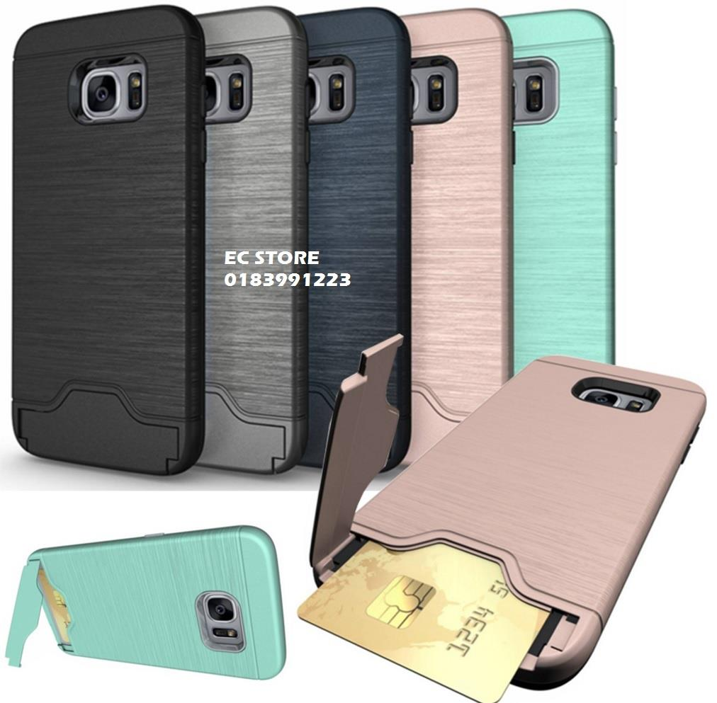 low priced 5f05f c7484 Samsung S7 Edge S8 S8 Plus OnePlus 3 Credit Card Slot Armor Case Cover