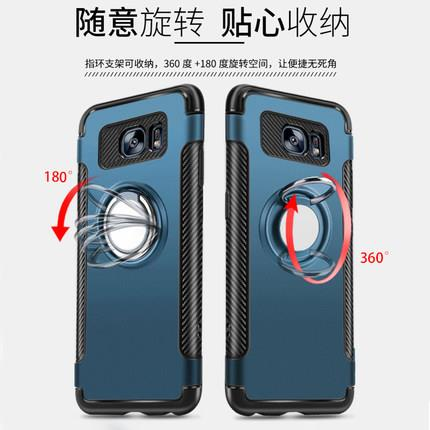 Samsung S7 Edge/S8/S8+ protective cover with ring