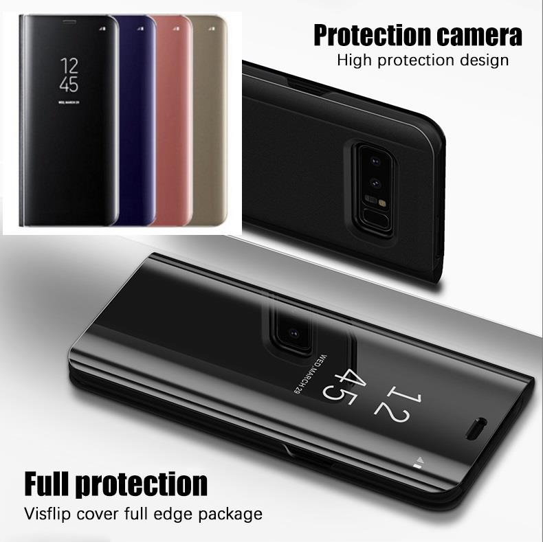 best cheap 3c057 e84b9 Samsung S7 Edge S8 S9 S8+ S9+ Plus Mirror Clear View Flip Case Cover